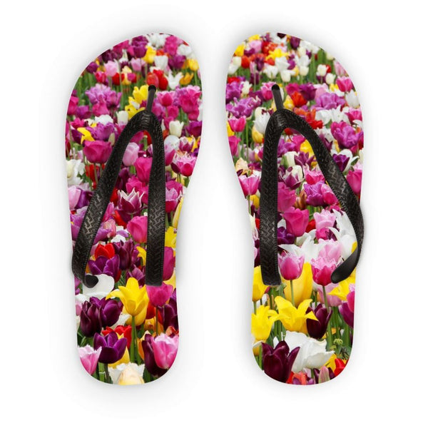 Different Tulips In Holland Flip Flops S Accessories