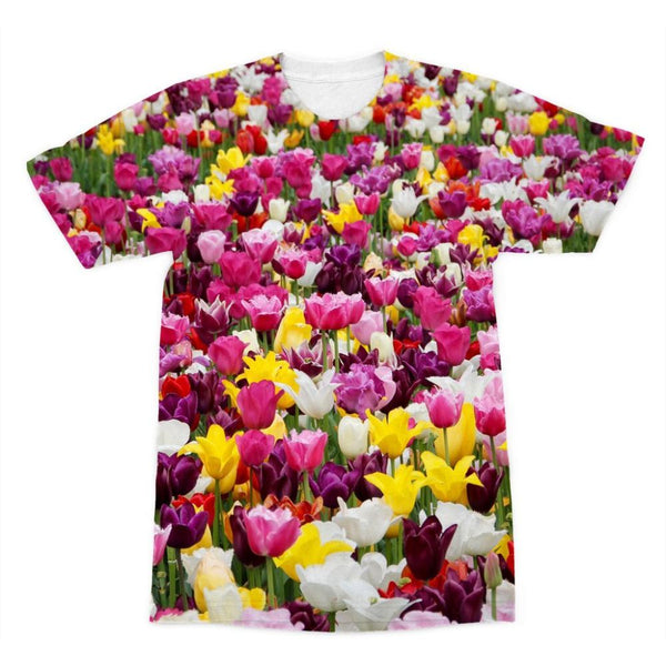 Different Tulips In Holland Sublimation T-Shirt Xs Apparel