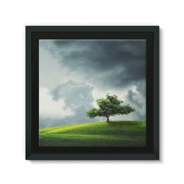 Dramatic Summer Thunderstorm Framed Canvas 12X12 Wall Decor