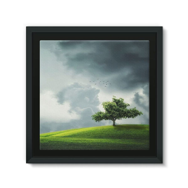 Dramatic Summer Thunderstorm Framed Eco-Canvas 10X10 Wall Decor