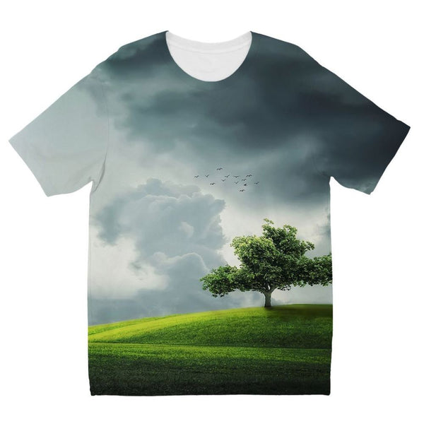 Dramatic Summer Thunderstorm Kids Sublimation T-Shirt 3-4 Years Apparel