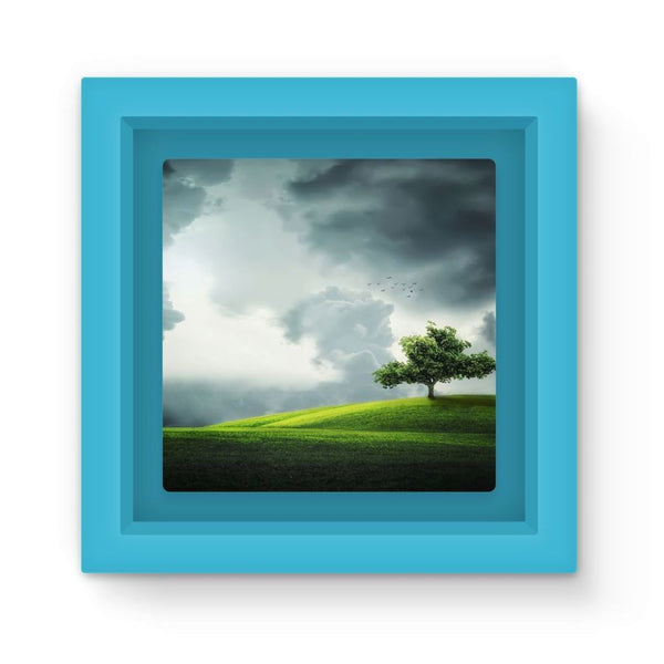 Dramatic Summer Thunderstorm Magnet Frame Light Blue Homeware