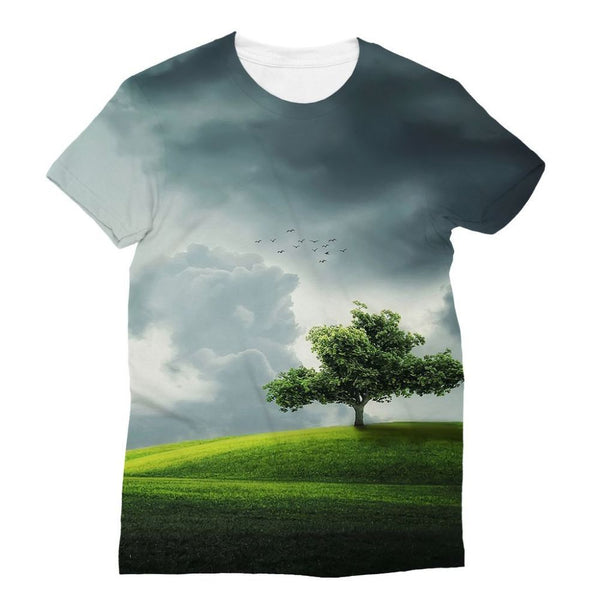 Dramatic Summer Thunderstorm Sublimation T-Shirt Xs Apparel
