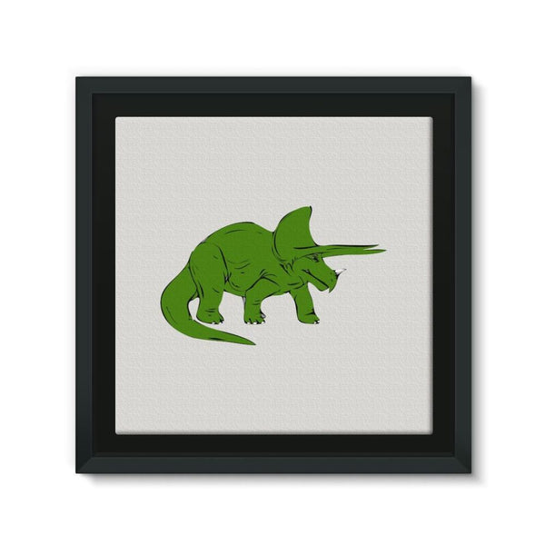 Drawn Triceratops Dinosaur Framed Canvas 12X12 Wall Decor