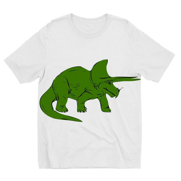 Drawn Triceratops Dinosaur Kids Sublimation T-Shirt 3-4 Years Apparel