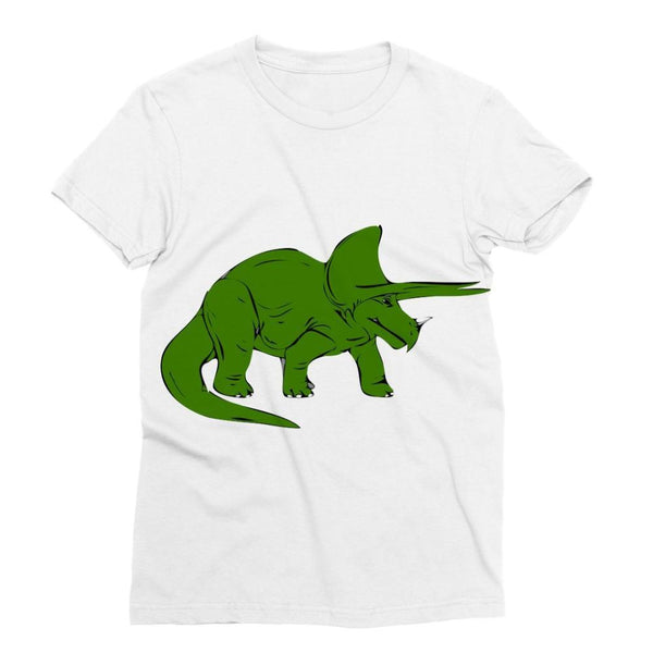 Drawn Triceratops Dinosaur Sublimation T-Shirt Xs Apparel