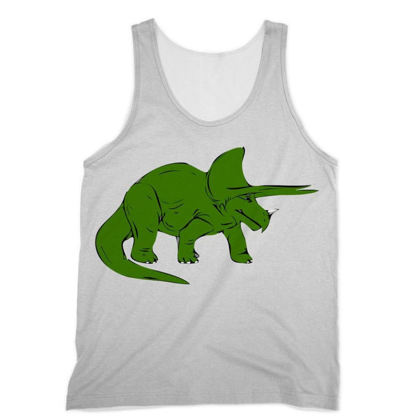 Drawn Triceratops Dinosaur Sublimation Vest Xs Apparel