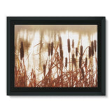 Dry Bushes Near The River Framed Canvas 16X12 Wall Decor