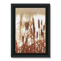 Dry Bushes Near The River Framed Canvas 24X36 Wall Decor