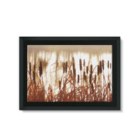 Dry Bushes Near The River Framed Canvas 30X20 Wall Decor