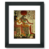 Egyptian Wall 1956 Framed Fine Art Print 12X16 / Black Decor