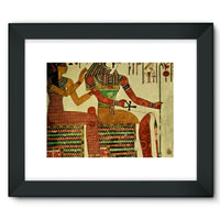 Egyptian Wall 1956 Framed Fine Art Print 16X12 / Black Decor