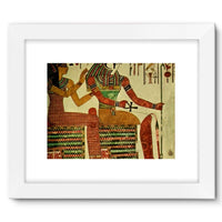 Egyptian Wall 1956 Framed Fine Art Print 16X12 / White Decor