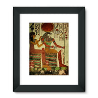 Egyptian Wall 1956 Framed Fine Art Print 18X24 / Black Decor