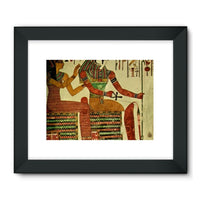Egyptian Wall 1956 Framed Fine Art Print 24X18 / Black Decor