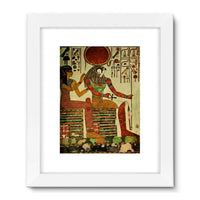 Egyptian Wall 1956 Framed Fine Art Print 24X32 / White Decor