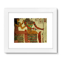 Egyptian Wall 1956 Framed Fine Art Print 32X24 / White Decor
