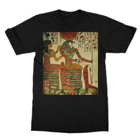 Egyptian Wall 1956 Softstyle Ringspun T-Shirt S / Black Apparel