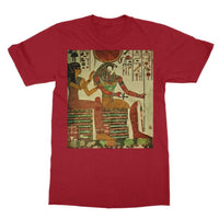 Egyptian Wall 1956 Softstyle Ringspun T-Shirt S / Cardinal Red Apparel