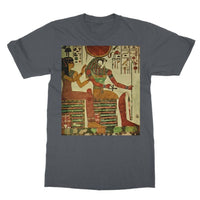 Egyptian Wall 1956 Softstyle Ringspun T-Shirt S / Charcoal Apparel