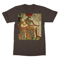 Egyptian Wall 1956 Softstyle Ringspun T-Shirt S / Dark Chocolate Apparel
