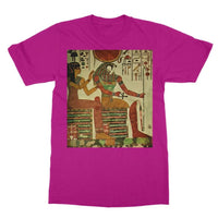 Egyptian Wall 1956 Softstyle Ringspun T-Shirt S / Heliconia Apparel