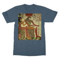 Egyptian Wall 1956 Softstyle Ringspun T-Shirt S / Indigo Blue Apparel