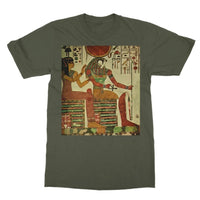 Egyptian Wall 1956 Softstyle Ringspun T-Shirt S / Military Green Apparel