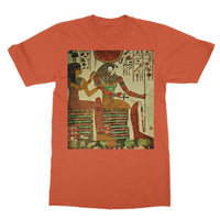 Egyptian Wall 1956 Softstyle Ringspun T-Shirt S / Orange Apparel