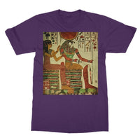 Egyptian Wall 1956 Softstyle Ringspun T-Shirt S / Purple Apparel