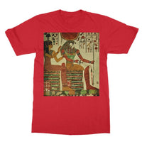 Egyptian Wall 1956 Softstyle Ringspun T-Shirt S / Red Apparel