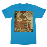 Egyptian Wall 1956 Softstyle Ringspun T-Shirt S / Sapphire Apparel