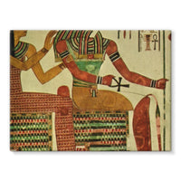 Egyptian Wall 1956 Stretched Canvas 16X12 Decor