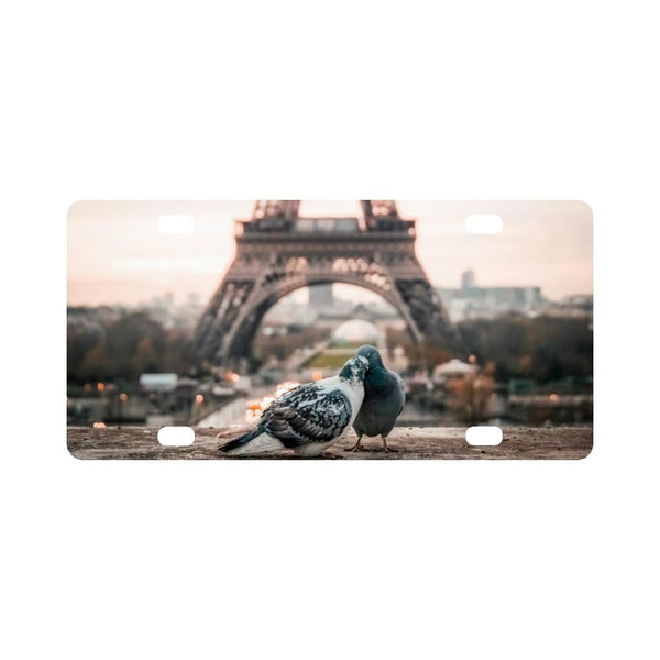 Eiffel Tower Paris France Classic License Plate