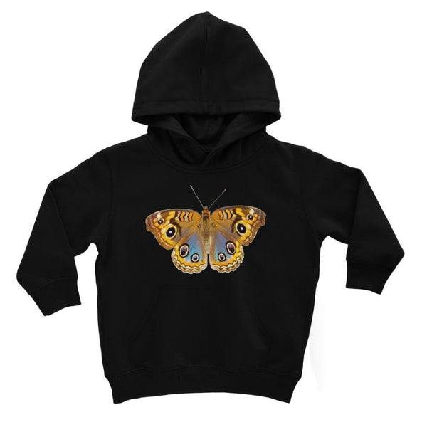 Eight Eyes Butterfly Kids Hoodie 3-4 Years / Jet Black Apparel