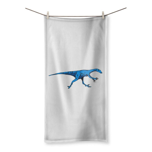Fast Blue Dinosaur Beach Towel 19.7X39.4 Homeware