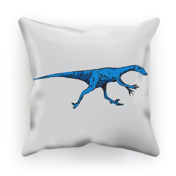 Fast Blue Dinosaur Cushion Linen / 12X12 Homeware