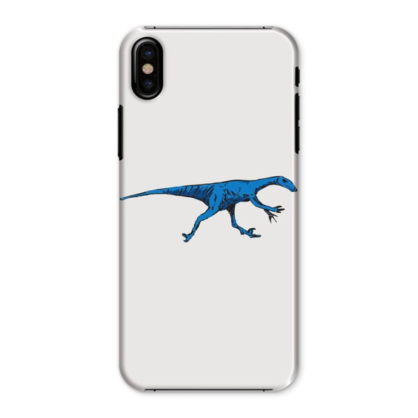 Fast Blue Dinosaur Phone Case Iphone X / Snap Gloss & Tablet Cases