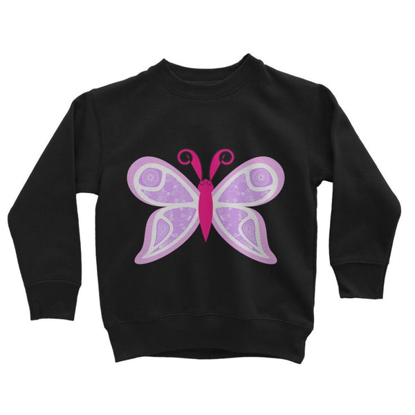 Fauno Butterfly Kids Sweatshirt 3-4 Years / Jet Black Apparel