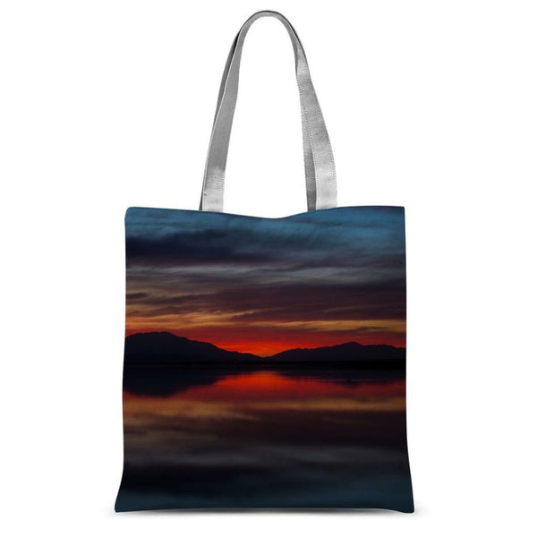 Final Light Of Sunset Sublimation Tote Bag 15X16.5 Accessories