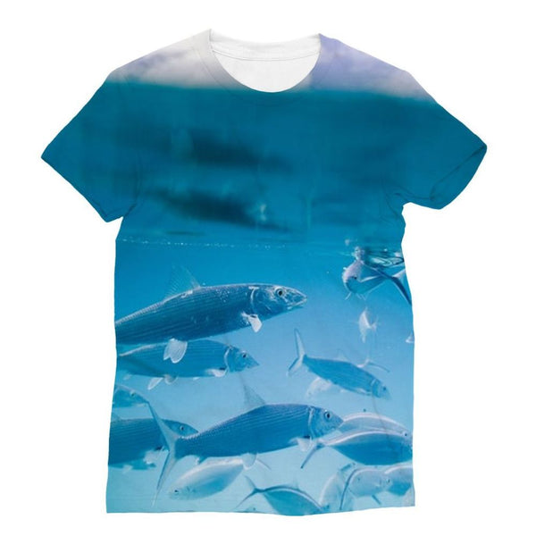 Fishes Under Water Sublimation T-Shirt Xs Apparel