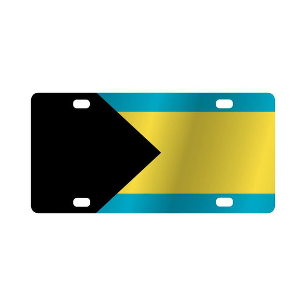 Flag Of The Bahamas Classic License Plate
