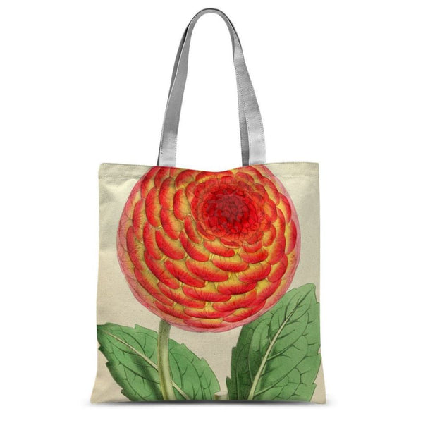 Floral Magazine 1869 Dahlia Sublimation Tote Bag 15X16.5 Accessories