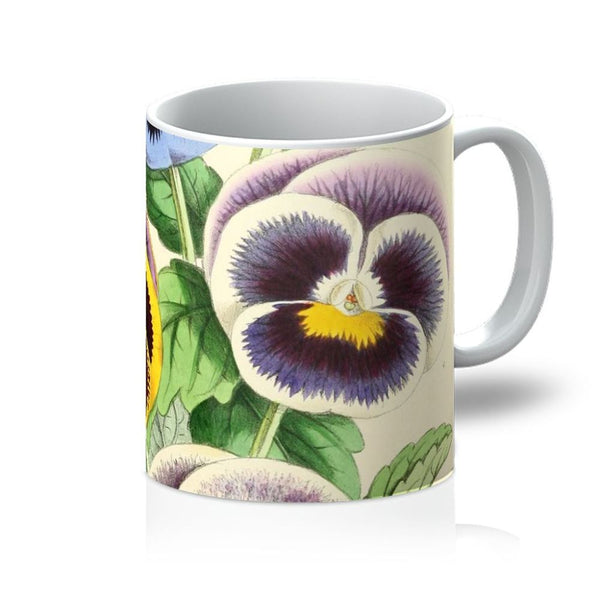 Floral Magazine 1869 Pansies Mug 11Oz Homeware
