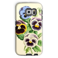 Floral Magazine 1869 Pansies Phone Case Galaxy S6 Edge / Tough Gloss & Tablet Cases