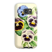 Floral Magazine 1869 Pansies Phone Case Galaxy S7 Edge / Tough Gloss & Tablet Cases