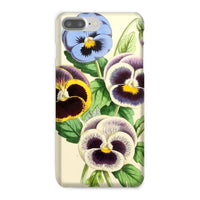 Floral Magazine 1869 Pansies Phone Case Iphone 8 Plus / Snap Gloss & Tablet Cases