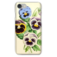 Floral Magazine 1869 Pansies Phone Case Iphone 8 / Snap Gloss & Tablet Cases