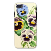 Floral Magazine 1869 Pansies Phone Case Iphone 8 / Tough Gloss & Tablet Cases