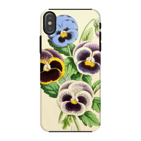 Floral Magazine 1869 Pansies Phone Case Iphone X / Tough Gloss & Tablet Cases